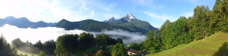 Fernsicht vom Berghof Punzenlehen