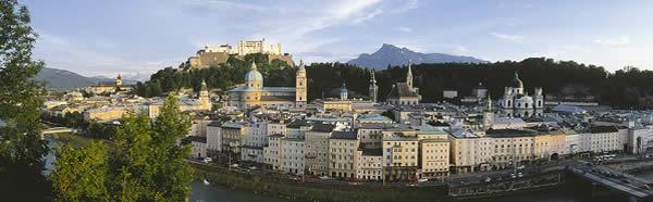 Panoramansicht der Altstadt von Salzburg